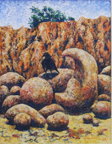 /fig/Birds - Bird Beak Rock 91x28cm -  36x28in - oil on canvas £5,250.jpg