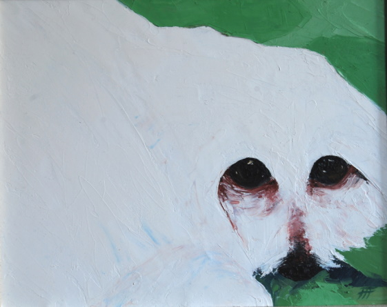 /fig/Dogs - The Dog is Always Lying Down 3 - 19x24cm - 7x9in - oil on canvas £1,150.jpg