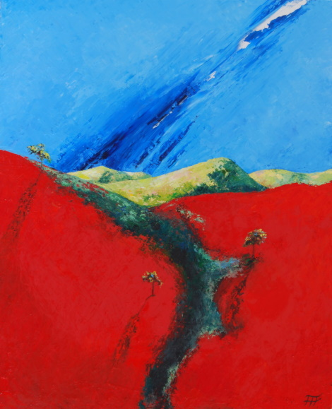 /fig/Landscape - Red Hillside 2 - 91x76cm - 36x30in - oil on canvas £5,450.jpg
