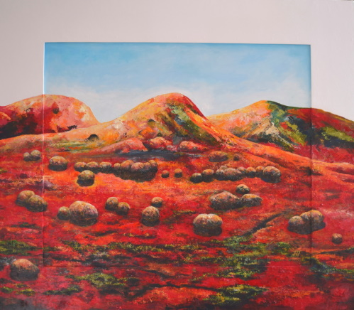 /fig/Landscape - Red Hillside 3 - 41.5x47.5in - 106x121cm - oils on canvas and wood £8,450.JPG
