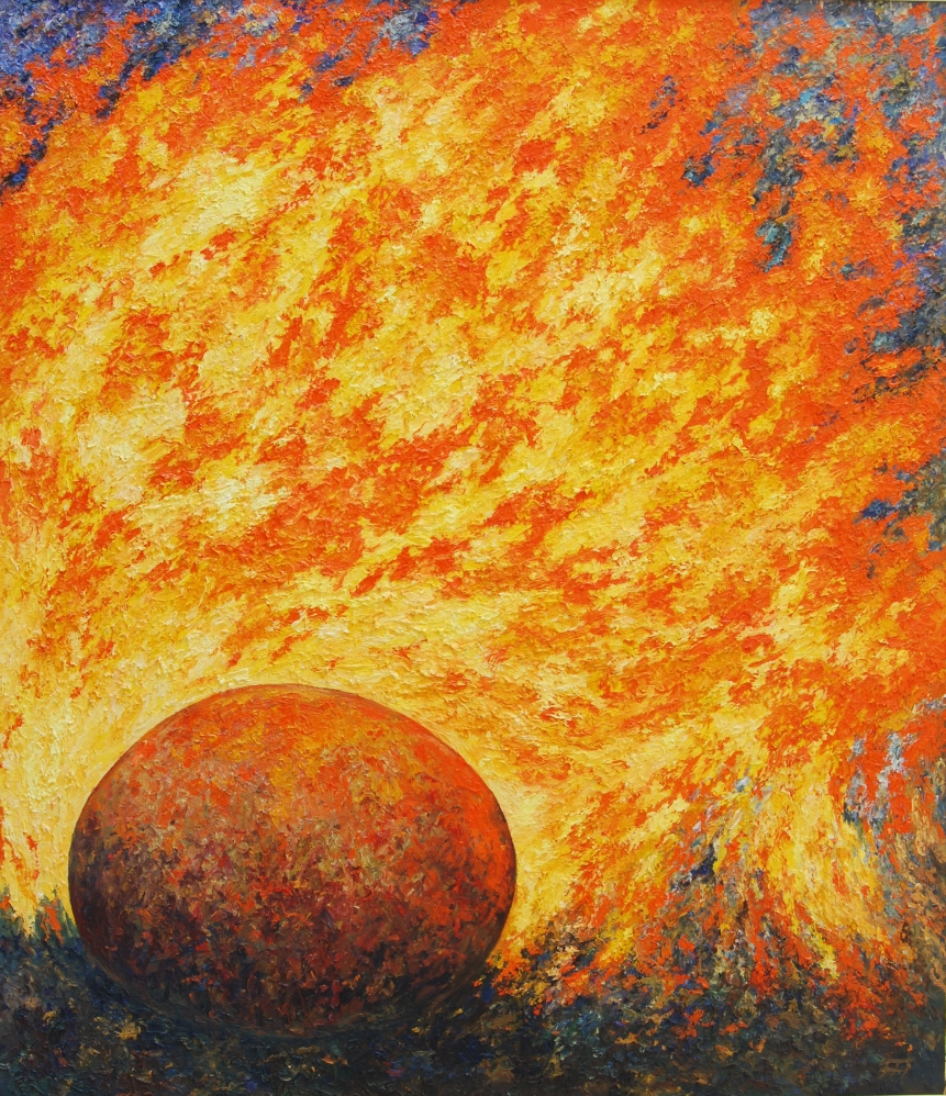 /fig/Rocks - Fire Series 1 130x112cm - 51x44in - oil on canvas £8,750.jpg
