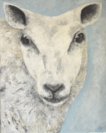 /fig/Sheep - Amanda (Beltex Sheep) 40x50cm - 20x16in - oil on canvas £3,250.JPG