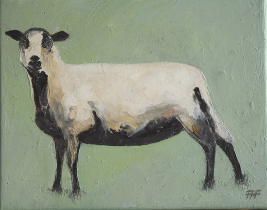 /fig/Sheep - Badger Sheep - 20x25cm - 8x10im - oil on canvas £1,250.JPG