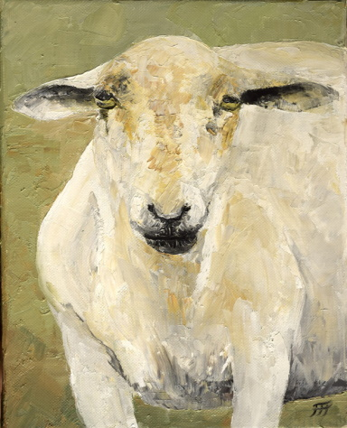 /fig/Sheep - Beatrice - 25x20cm - 10x8in - oil on canvas £1,250.JPG