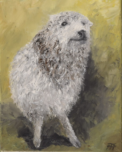 /fig/Sheep - Delilah (Grey Faced Dartmoor) 25x20cm - 10x8in - oil on canvas £1,250.JPG