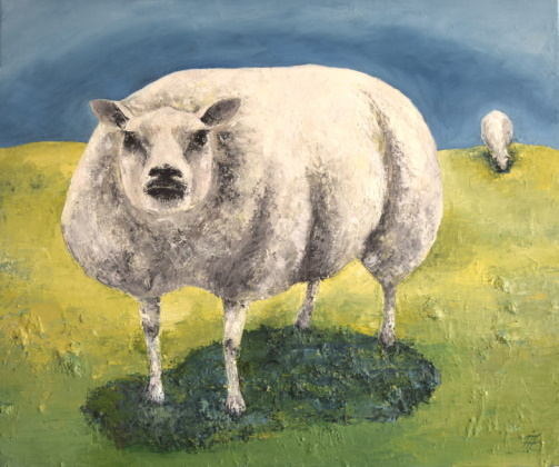 /fig/Sheep - Rosie (Beltex Sheep really look like this!) 50x60cm - 20x24in - oil on canvas £4,000.JPG