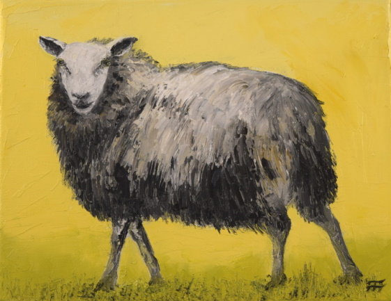 /fig/Sheep - Sheep with a human face - 20x25cm - 8x10in - oil on canvas £1,250.JPG