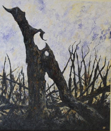 /fig/Trees - Fire Series 5 (Dragon Stump) - 107x91cm - 42x36in - oil on canvas £7,000.jpg