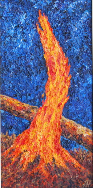 /fig/Trees - Fire Stump 2 51x25cm - 20x10in - oil on canvas £2,850.jpg