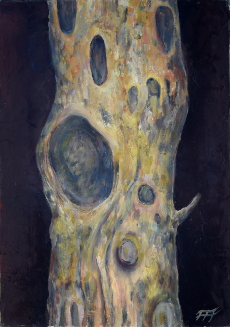 /fig/Trees - Gum Tree Trunk 3 - 36x25.5cm - 14x10in - oil on canvas £2,500.JPG