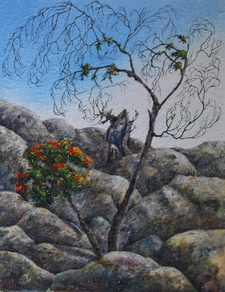 /fig/Trees - Outback Boulders -  91x71cm - 36x28in - 14th January 2012 oil on canvas £5,250.jpg