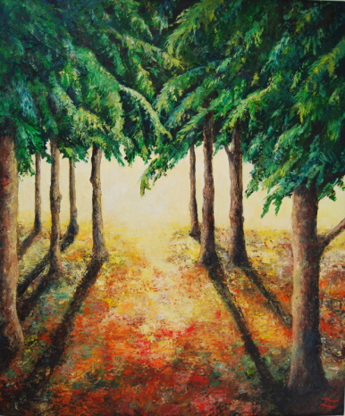 /fig/Trees - Wrekin Trees 3 -  91x76cm - 36x30in - oil on canvas £5,450.jpg