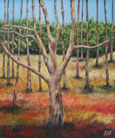 /fig/Trees - Wrekin Trees 5 - 91x76cm - 36x30in - 1st July 2013 - oil on canvas £5,450.jpg