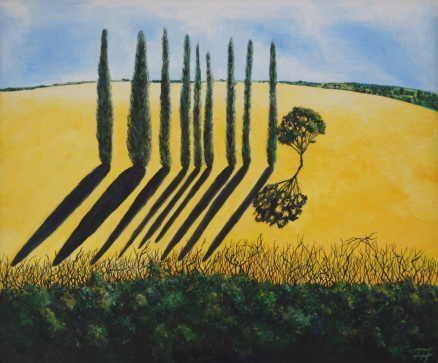 /fig/Trees - Yellow Field & Poplars 2 - 76x91cm - 30x36in - oil on canvas £5,450.jpg